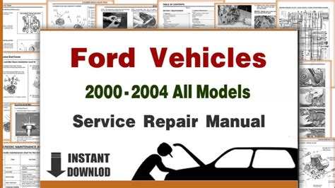 2000 2004 ford vehicles service repair workshop manuals download youtube