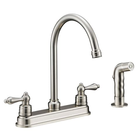 Kitchen Faucet Plumbing by Designers Impressions Satin Nickel Kitchen Faucet With
