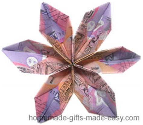 2d Origami Flower - for origami money flowers