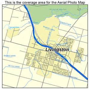 aerial photography map of livingston ca california
