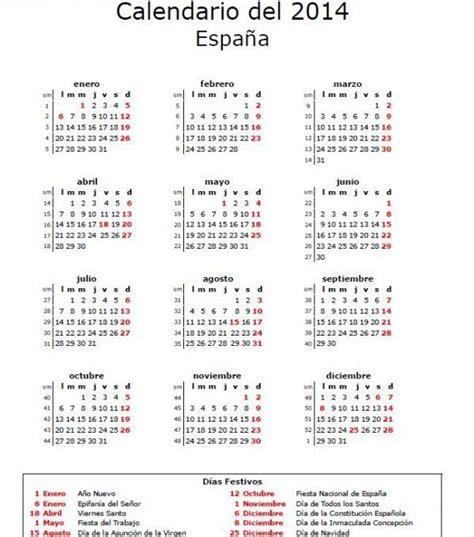 Calendario 2014 Con Semanas Calendario 2014 Definanzas