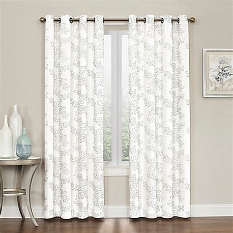 95 inch curtains buy brielle embroidery 95 inch grommet top window curtain