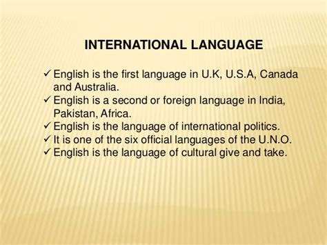 grammar for english language importance of english language