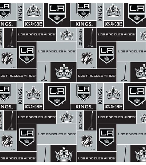 Quilting Classes Los Angeles by Nhl Cotton Fabric Los Angeles Black Jo