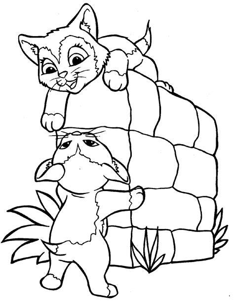 Free Printable Cat Coloring Pages For Kids Coloring Pages Kittens