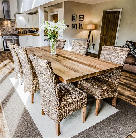 sakra solid wood rustic dining table dining tables