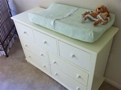 Used Changing Tables Used Changing Table Antique White Chest Of Drawers Used As A Changing Table Eclectic Nursery