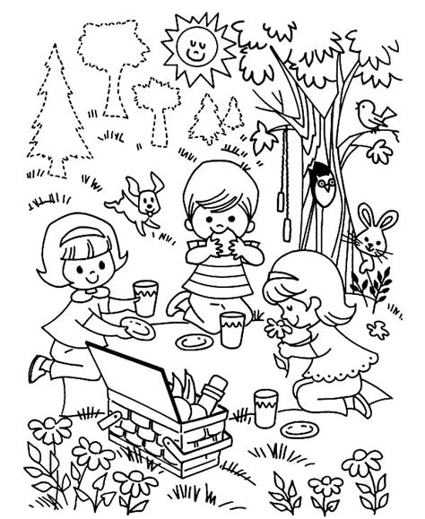 picnic coloring pages family picnic coloring pages coloring pages