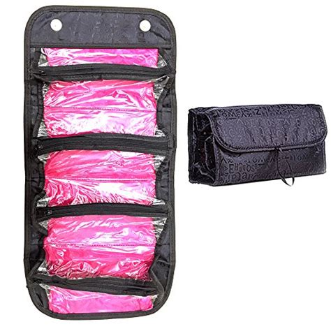 toiletry travel bag case roll  organizer cosmetics