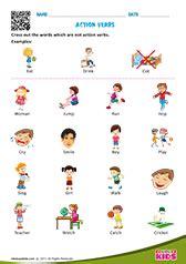 verb worksheet for kindergarten action verbs worksheets