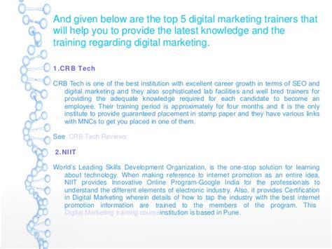 Digital Marketing Course Review 5 by Top 5 Digital Marketing Institutes In Pune