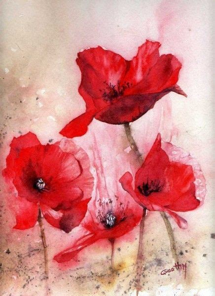 watercolor tattoo c est quoi 25 best ideas about peinture coquelicot on