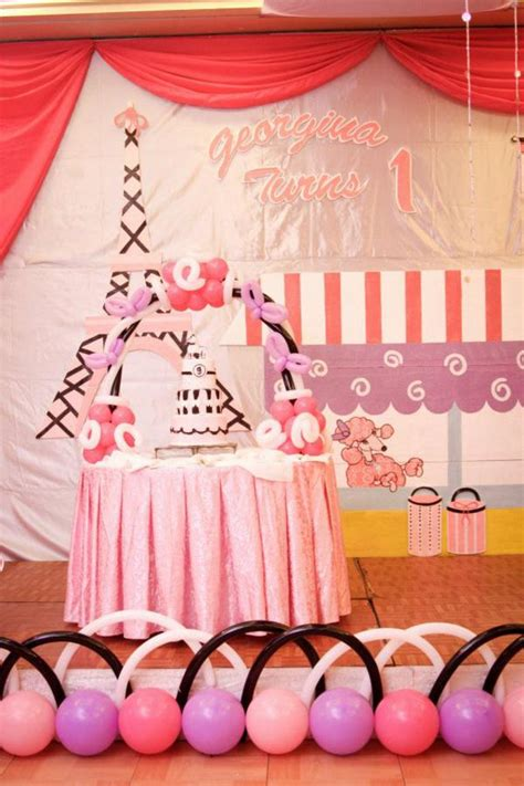 paris themed birthday decorations kara s party ideas poodle in paris french girl pink 1st