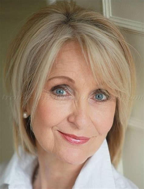 blonde hairstyles for over 50 short blonde bob hairstyle hairstyles for women over 50
