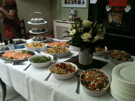 Table Buffet Menu Christening Lunch Rosalind The Cook