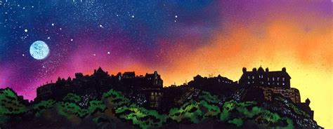 spray painter glasgow painting prints of edinburgh castle scottish landscape