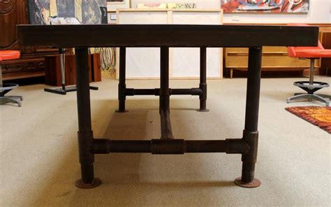 bowling alley table industrial reclaimed bowling alley floor dining table at