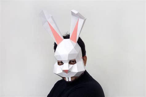 Rabbit Papercraft - diy bunny rabbit mask 3d papercraft by paper amaze