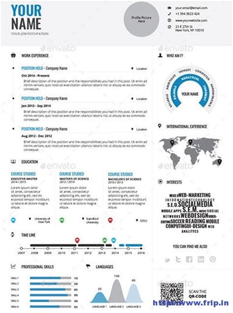 infographic resume template indesign 40 best infographic resume print templates 2016 frip in
