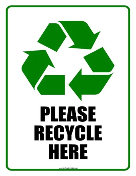 printable recycling images please recycle clipart best