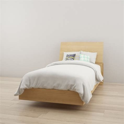 Maple Headboard by Platform Bed With Headboard In Maple 223805 343905 Kit