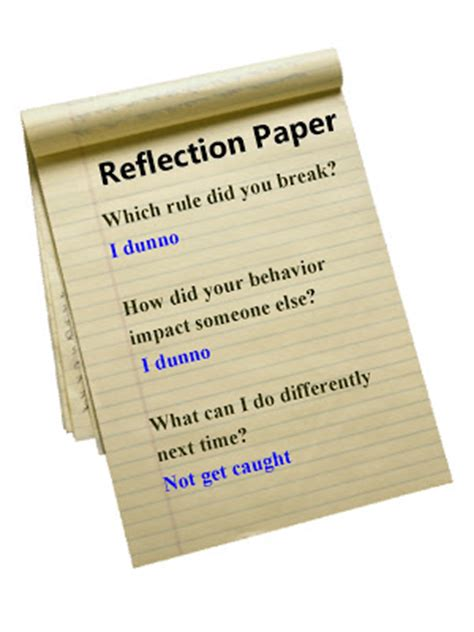 How To Make A Reflection Paper About A - tortorello and author reflecting on the