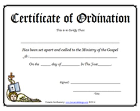 certificate of installation template ministry of the gospel templates free printable