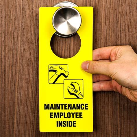 maintenance door hanger template maintenance employee inside door hanger delivery