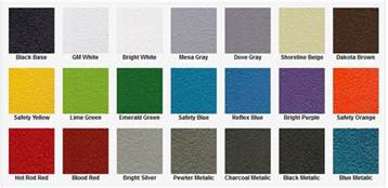bed liner colors coatings stalwart arms