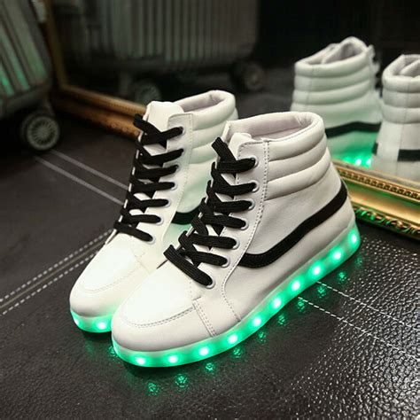 led light up shoes in stores unisex yeezy fashion led light up shoes for lovers leather