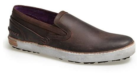 Fashion Slip On 003 blackstone scm 003 slip on in brown for lyst