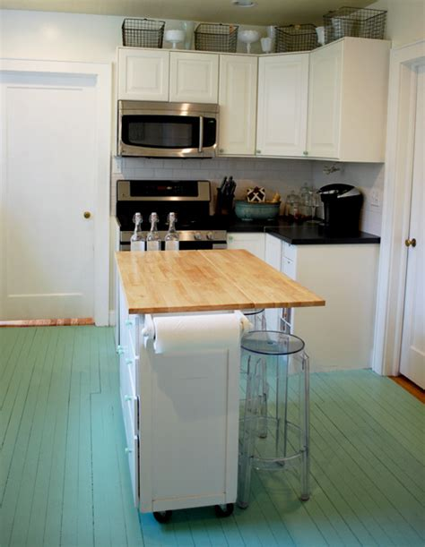 Painted Kitchen Floors Diy Painted Wooden Floor