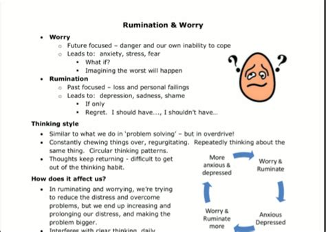 ruminating thoughts worksheet 100 self acceptance worksheets between sessions therapy activities for counseling