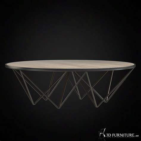 restoration hardware round 3d tribeca round high quality 3d models