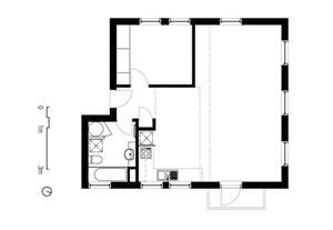 Studio Guest House Plans two apartments in modern minimalist japanese style