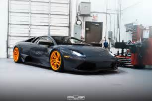 Murcielago Lamborghini Stunning Lamborghini Murcielago Lp640 On Orange Pur Wheels