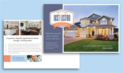 free open house post card templates real estate marketing postcards easy templates