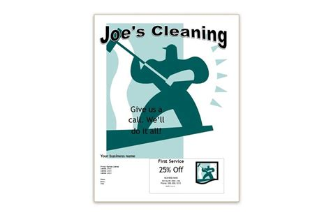 Commercial Cleaning Flyer Templates commercial cleaning business flyers exles and sles