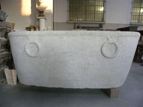 vasca in marmo vasca in marmo bianco di carrara con anelloni