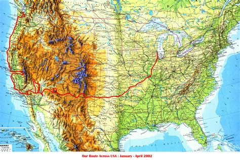 route map usa route maps of west coast usa