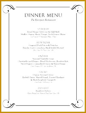 formal menu template 5 formal dinner menu template fabtemplatez