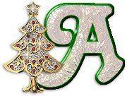 lettere dell alfabeto natalizie albero natale