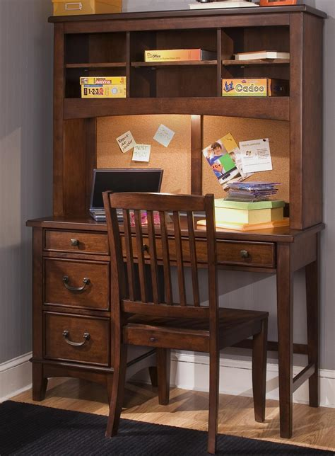 youth desk with hutch liberty furniture chelsea square youth single pedestal