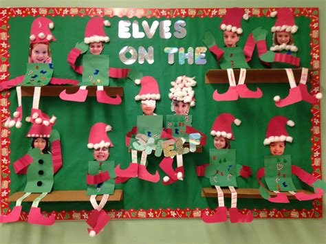 elf on the shelf bulletin board christmas classroom