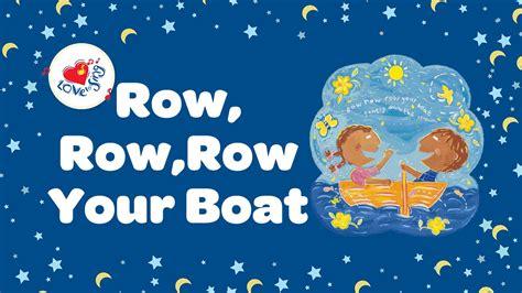 row your boat lyric row row row your boat lyrics nursery rhymes children