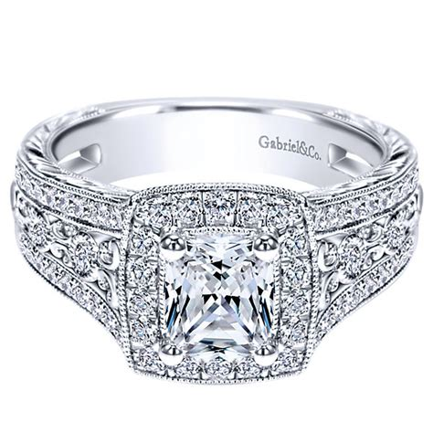 Tacori Engagement Rings Gold Floral Halo Setting by Gabriel Co Engagement Rings 66ctw Diamonds Halo Setting
