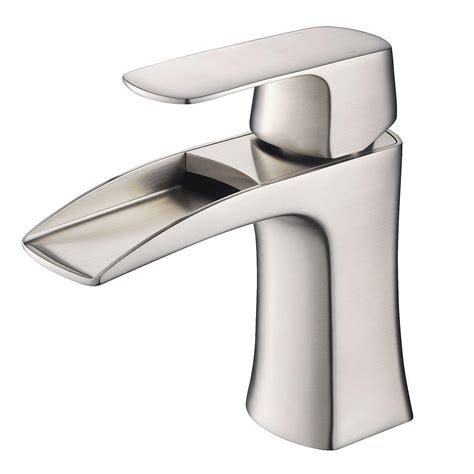 single hole bathroom faucet brushed nickel fresca fortore single hole single handle low arc bathroom faucet in brushed nickel