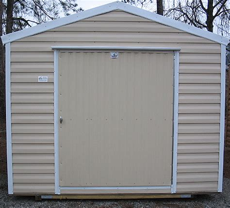 storage buildings with aluminum siding are cooler during