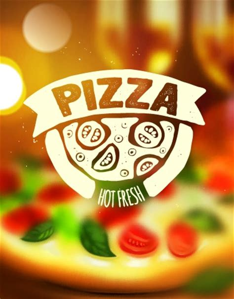 blurred pizza background vector vector background