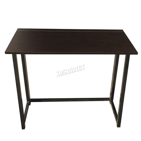 Folding Office Desk Foxhunter Foldable Computer Desk Folding Laptop Pc Table Home Office Cd03 Black Ebay